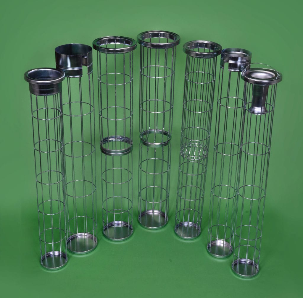 Bag cage examples for dust collection