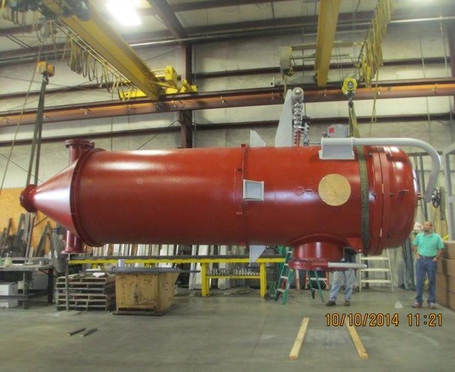 ASME Code Stamped Pressure Vessel Baghouse prepared for shipment