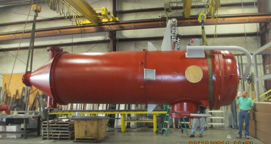 ASME Code Stamped Pressure Vessel Baghouse prepared for shipment